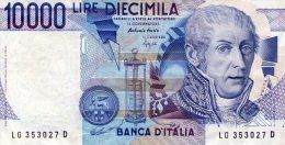 """ITALIE """" 10 000 Livre"""" - [ 2] 1946-… : République"""