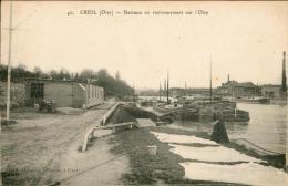 Bateaux En Stationnement Sur L'Oise - Creil