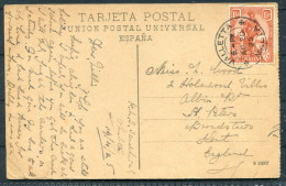 1925 Malta Valletta Spain Barcelona Bullring Plaza De Toros Arenas HMS Sandhurst Ship Mail Postcard - Malta