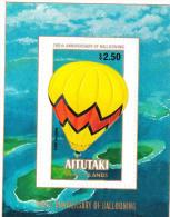 Aitutaki 1983 Manned Flight Bicentenary S/S MNH - Aitutaki