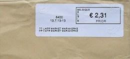 België 2013 PP Carr Market Mariakerke 8400 - Logo Bpost (fragment 114 X 228 Mm) - Automatenmarken (ATM)