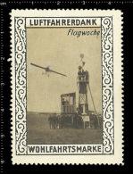 Original German Poster Stamp (cinderella Reklamemarke) Luftfahrerdank - Aviation Airplane Flugzeuge Flug Woche - Airplanes