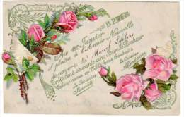Cpa Fantaisie En Celluloïd, Au 1er Janvier ... Année Nouvelle, Ajoutis Fleurs Roses - Other