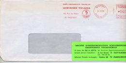 Lettre Flamme Ema Bagneux Intrumentation Schlumberger Tolana - Marcophilie (Lettres)
