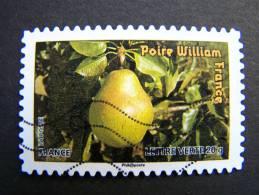 FRANCE OBLITERE 2012 N° 697  POIRE WILLIAM SERIE DU CARNET DES FRUITS POUR UNE LETTRE VERTE AUTOCOLLANT ADHESIF - Oblitérés