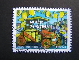 OBLITERE FRANCE ANNEE 2011 N°586 FETES ET TRADITIONS DE NOS REGIONS FETE DU CITRON A MENTON PROVENCE ALPES COTE D´AZUR - France