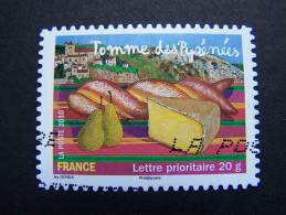 OBLITERE FRANCE ANNEE 2010 N° 445 TOMME DES PYRENEES SERIE SAVEURS DE NOS REGIONS AUTOCOLLANT ADHESIF - France