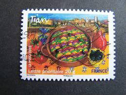 OBLITERE FRANCE ANNEE 2010 N° 436 TIAN SERIE SAVEURS DE NOS REGIONS AUTOCOLLANT ADHESIF - France