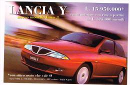 C2949 Cartolina Pubblicitaria - Lancia Y - Auto Cars Voitures / Non Viaggiata - Advertising