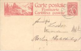 BRISSAGO ENTIER SUISSE SUIZA SWITZERLAND CIRCULEE 1925 - Interi Postali