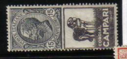 1924-1925 CAMPARI PUBBLICITARI  Unificato 3 Nuovo ** COD FRA.311 - Pubblicitari