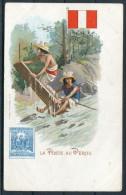 La Poste Au Perou - Peru Stamp, Flag & Postman - Postal Services
