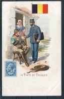 La Poste En Belgique - Belgium Stamp, Flag & Postman - Postal Services