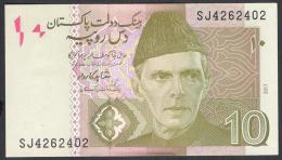 PAKISTAN BANKNOTES 2011 Shahid Kardar 10 Rupees SJ 4262402 UNC - Pakistan