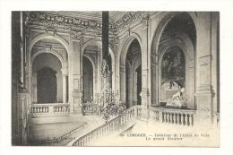 Cp, 87, Limoges, Intérieur De L'Hôtel De Ville, Le Grand Escalier - Limoges