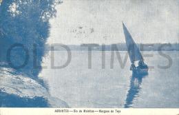 PORTUGAL - ABRANTES - RIO DE MOINHOS - MARGENS DO TEJO - 1915 PC. - Santarem