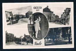 Niederlande  Schwarz Weiße Foto Ansichtskarte  Groeten Uit Venlo  5 Teilig  Gelaufen 13.1.1954 - Venlo