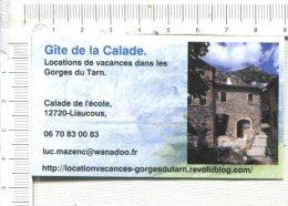CARTONNETTE  Publicitaire  -   Gîte De La  CALADE  -  Liaucous  - 12 - Placas De Cartón