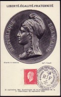 Carte Maximum FRANCE N° Yvert  691 (Marianne De Dulac) Obl Ill 28.11.44 Toulouse - 1940-49