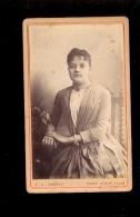 Photographie Ancienne CDV Femme  Photographe J.A. BESSAC à PONT D'AIN - Anonymous Persons