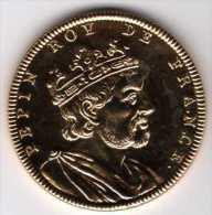 La Collection Rois De France #4/20 : Dorée à L´Or 24 Carats : Pepin 714-768 : Monnaie De Paris - Monnaie De Paris
