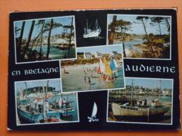 V09-29-a-finistere--audierne--a L'estuaire Du Goyen-multivues--pins-bateaux Port-- - Audierne