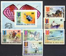 Burkina Faso (Upper Volta) 1974 Space, UPU Centenary, Aviation Set Of 6 + S/s Imperf. MNH -scarce- - Espace