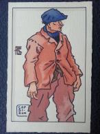 Carte Authentique Au Pochoir De Geo-fourrier.pecheur Du Cap Sizun - Beuzec-Cap-Sizun