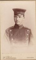 KABINETTFOTO Um 1890, Soldat Steffe Schweighardt - Guerra, Militari