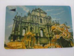 Macau GPT Magnetic Phonecard,1MACK Sao Paolo Church,first Issued,used - Macau