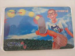 Macau Recharge Phonecard,cartoon Boy Football,used - Macau
