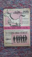 *SPARTITO DAL FESTIVAL DI PALERMO 1957 - LU BAJON DI LU SCECCU - LA CANZONE DEGLI STUDENTI - VIOLINO TROMBA PIANOFORTE - Spartiti