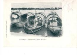 ASIE---COCHINCHINE---sampans Sur La Rivière De Saigon--voir 2 SCANS - Viêt-Nam