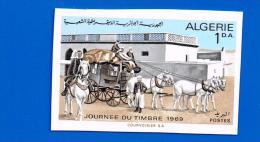 Algérie Algeria Journée Timbre Stamp Day Diligence Cheval Pferd Horse Caballo Non Dentelée ND Imperforate Imperf - Diligences