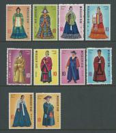 1973 Korean Court Costumes Set 10 Complete MUH SG Catalogue  No´s 1037/1038, 1045/1046, 1053/1054, 1060/1061 & 1078/1079 - Korea, South