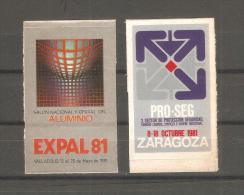 2 Viñetas Autoadhesivas. - España