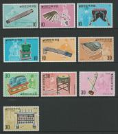 1974 Musical Instruments Set 10 Complete MUH SG Catalogue  No´s 1089/1090, 1098/1099, 1108/1109, 1117/1118 & 1132/1133 - Korea, South