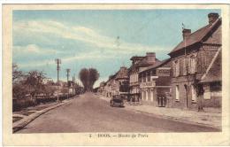 Boos La Route De Paris Une Voiture Plaque Pub Byrrh Cpa  Seine Infèrieure 76 Seine Maritime Normandie - Francia