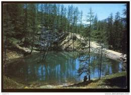 CPM Non écrite ARVIEUX  Le Petit Lac Et La Route D´Arvieux à Château Queyras Par Souliers - Autres Communes