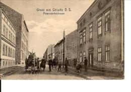 GRUSS AUS GLEIWITZ O.S. PETERSDORFERSTRASSE ATTELAGE CHEVAL ECRIS ANIMATION - Polen