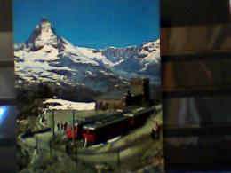 Suisse - Gornergrat Sur Zermatt - La Gare Et Le TRENO  TRAIN N1980 EG562 - ZG Zoug