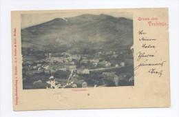 TREBINJE, HERCEGOVINA, TOTALANSICHT 1900  2 SCANS - Bosnie-Herzegovine