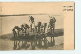 NUBIE : Prise D'un Crocodile. Dos Simple. 2 Scans. Edition Harari - Hunting