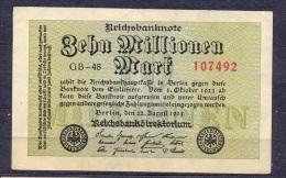 Germany - 1923 - 10 000 000 Mark .. GB-48  -    P-106a ...R 105a.. - 10 Millionen Mark