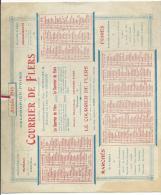 Calendrier :  COURRIER  De  FLERS  - ORNE   1918 ( Foire , Marché : Briouze, Domfront, Vire, Argentan,la Férriere,condé. - Calendriers