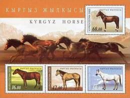 Kyrgyzstan 2009 Horses Mountains SS MNH - Kyrgyzstan
