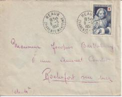FRANCE - 1952 - CHARENTE MARITIME - LETTRE DE REAUX POUR ROCHEFORT -TB - - 1921-1960: Moderne