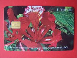 Chip Phone Card , Flower Delonix Regia, $10, 30.000 - Cuba