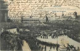 1830 - 1905 - 75 Eme ANNIVERSAIRE DE L INDEPENDANCE BELGE - GRANDE FETE PATRIOTIQUE 21 JUILLET SUR PLACE POELART DEFILE - Fiestas, Celebraciones