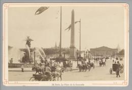 Foto ~1890 France Paris La Place De La Concorde #32 Kutschen - Anciennes (Av. 1900)